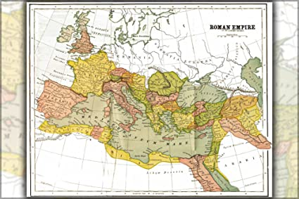 Amazon Com Map Of The Roman Empire At Its Largest Extent 150 Ad