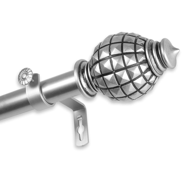 Rod Desyne 100-66-286 Opal Curtain Rod 1-Inch Od 28-48 Inch-Mahogany