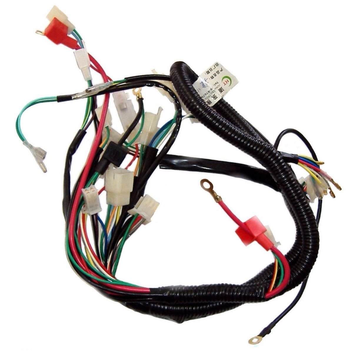 Full Electrics Wiring Harness Cdi Coil 110cc 125cc Atv Quad Bike Chinese Pocket Rocket Diagram Buggy Gokart Taotao Jetmoto Roketa Electrical Amazon Canada