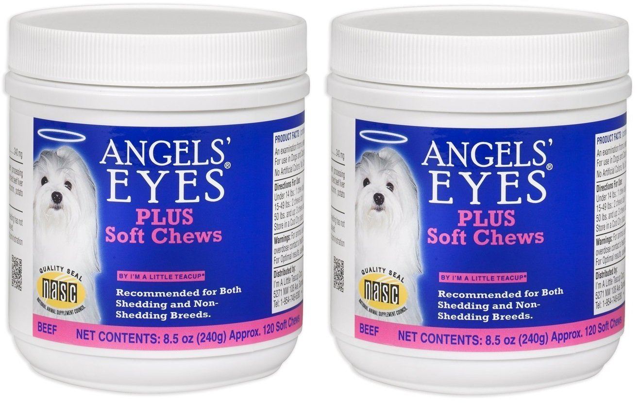 (2 Pack) Angels' Eyes AENSC120PLBF 120 Counts Angels' Eyes Plus Soft Chews for Dogs by ANGELS' EYES