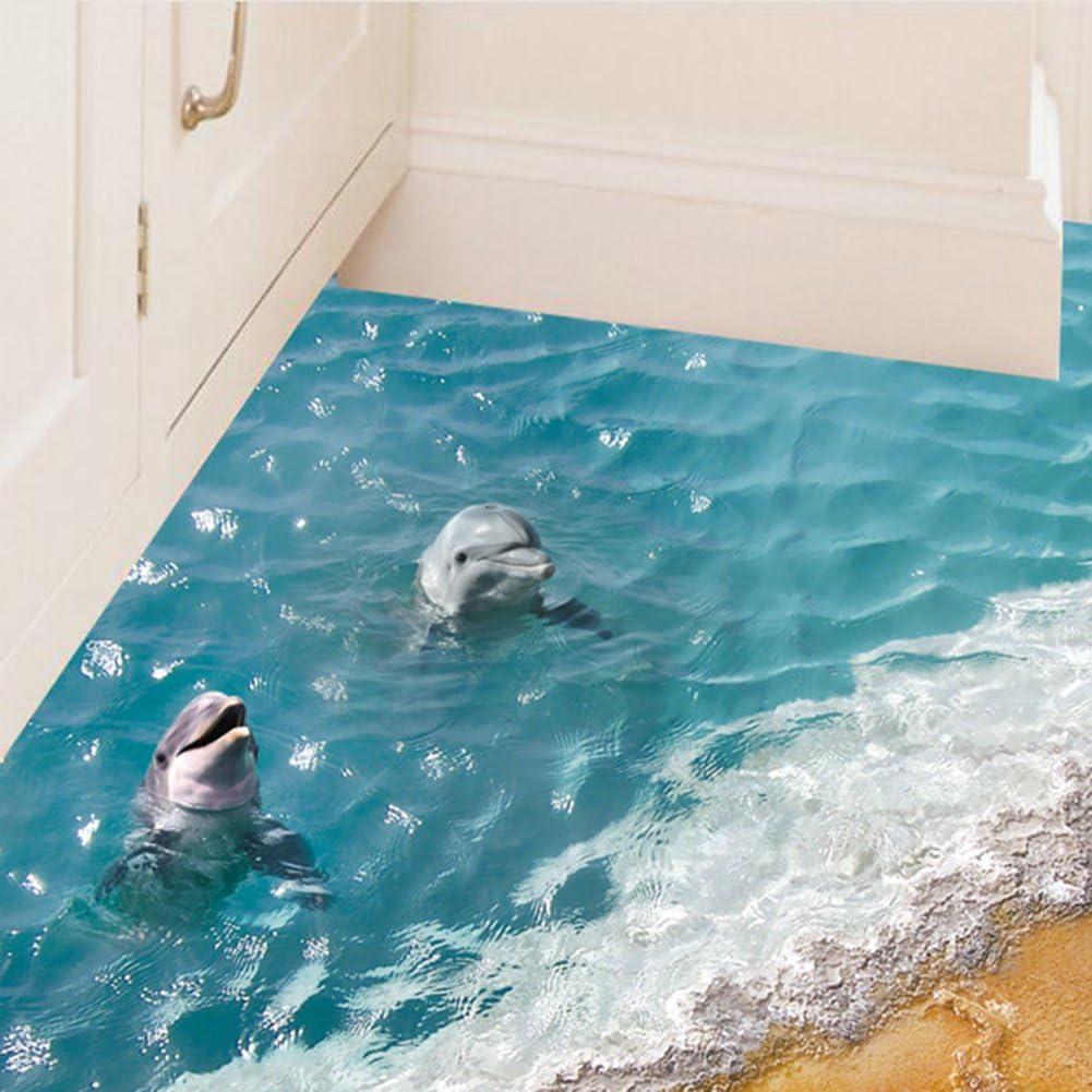 3D Floor//Wall Sticker Waterproof Mural Decals PVCArt Living Room Decor Removable
