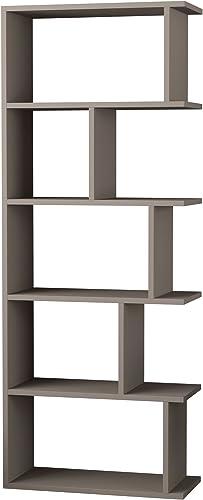 Ada Home D cor Bayside Bookcase, 24 x 63 x 11 , Light Mocha