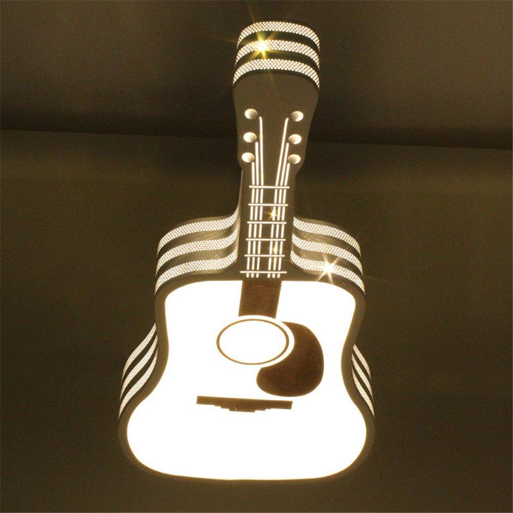 Larsure Estilo Vintage Modern Iluminación de techo Led de luces de techo lámpara de techo dormitorio acrílico-guitarra de luz la habitación de los niños luz ...