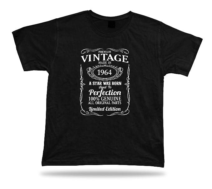 Body-soul-n-spirit Shirts Camiseta Impresa la Estrella nace en 1964 Feliz cumpleaños Esta Idea del Regalo