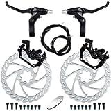 RUJOI Bike Disc Brake Kit, Aluminum Front and Rear Caliper, Full Aluminum Alloy Bicycle Brake Lever, 160mm Rotor…