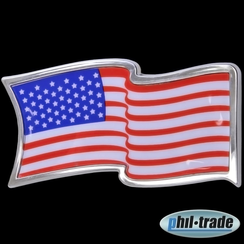 3d Chrom Emblem Aufkleber Flagge Usa Vereinigte Staaten States America L056 Auto