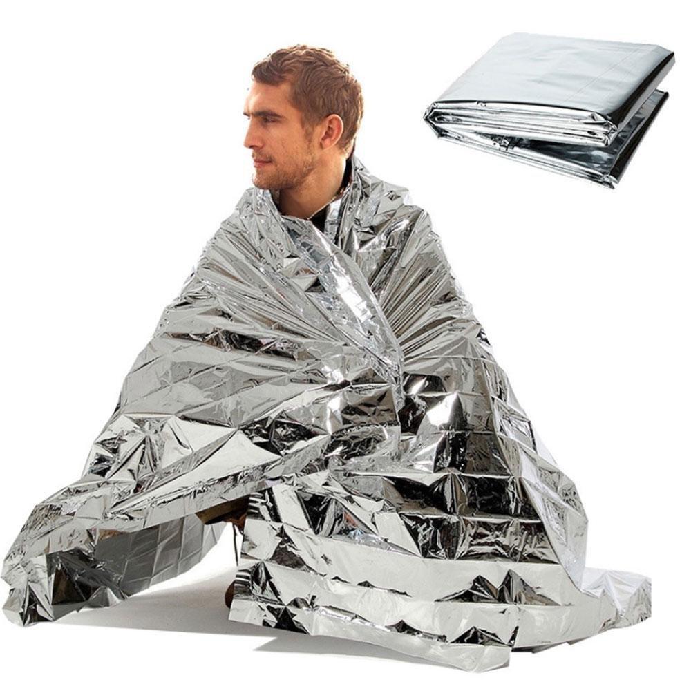Aolvo Mylar Couverture de survie thermique é tanche Couverture Couverture de survie Portable Tente Isolation Espace Couverture conç u pour la NASA pour l'exté rieur/randonné e/Survival/Marathons/premiers secours, Sliver