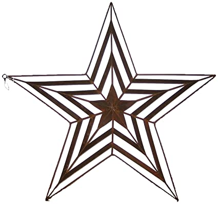 Buy Craft Outlet Tin Star Design Cutout Wall Decor, 24-inch, Rust ...