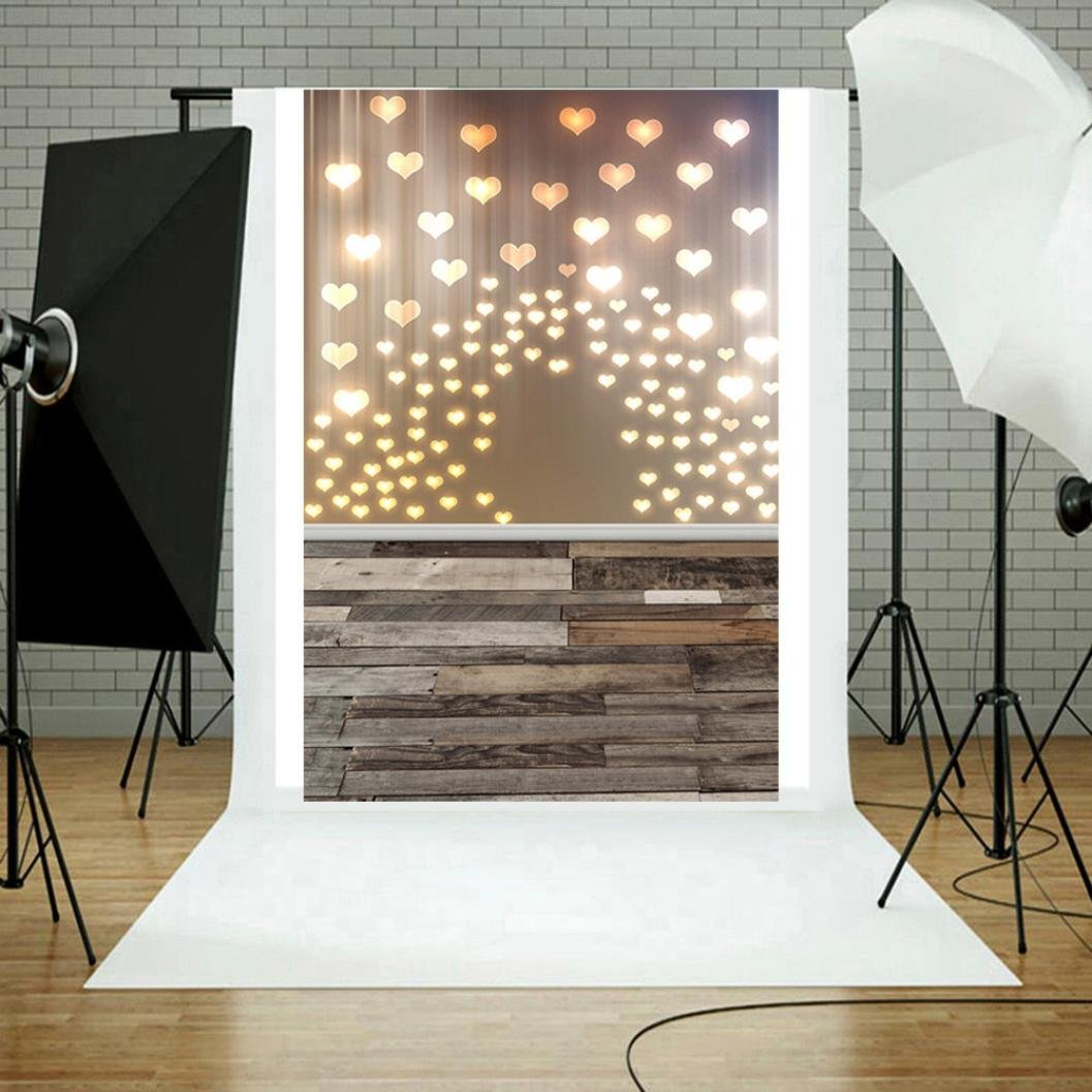 Dirance Photo Backdrops 3x5ft, Love Glitter Haloes Photo Backgrounds for Photo Studio Weddings Party (B)