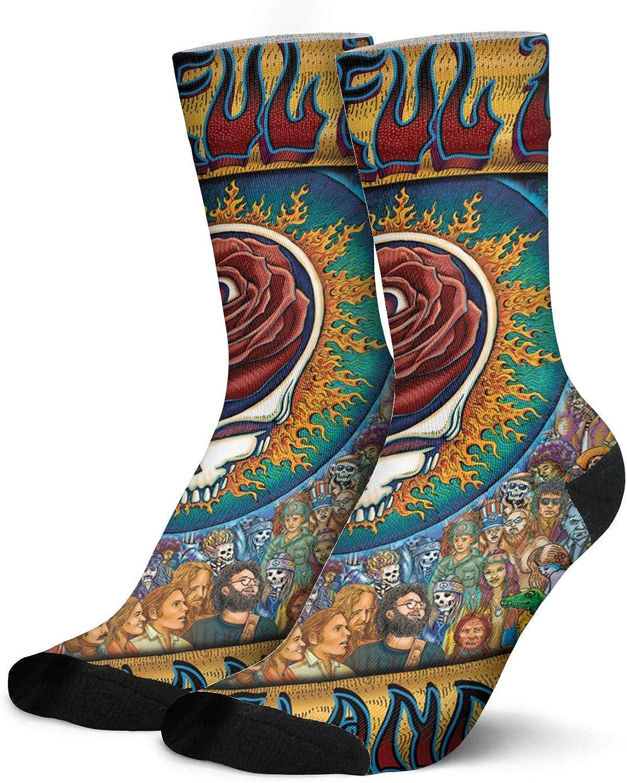 CarrWindsor Men's Comfortable Music Fans High Ankle Socks Casual Printed Athletic Socks