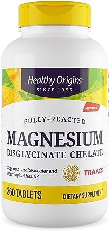 Healthy Origins Magnesium Bisglycinate Chelate, 360 Count