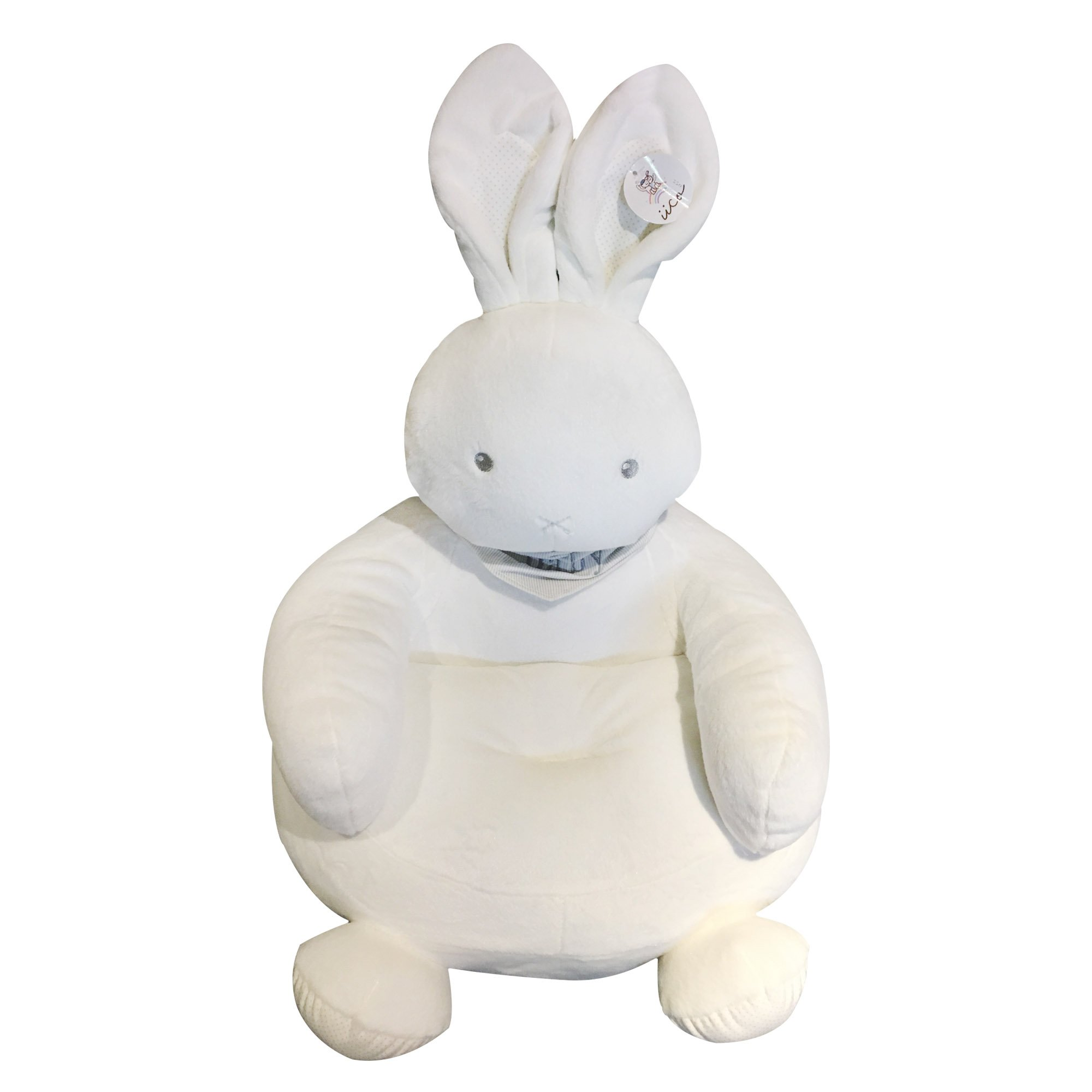 Ticoks Plush Unicorn/Bunny/Rabbit Sofa for babies to Sit up Cute Animals Cartoon Arms Chair Tatami Sofa,Gifts for Babies and Kids (Rabbit)
