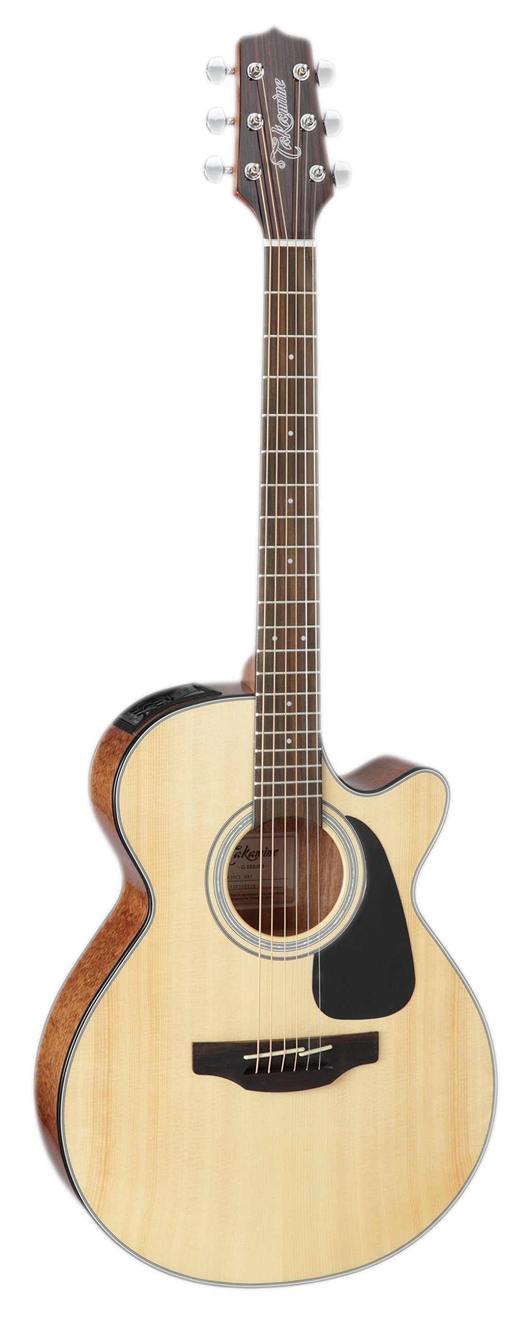 Takamine GF30CE-NAT FXC Cutaway Acoustic-Electric Guitar, Natural by Takamine