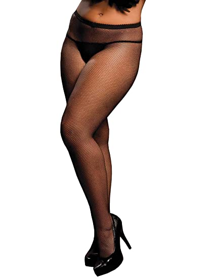 036ec2614b1 Full Figure Fishnet Pantyhose at Amazon Women s Clothing store  Adult  Exotic Hosiery