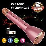 Microfono Wireless Karaoke, Altoparlante Bluetooth Giocatore, Batteria Operata Sistema Di Registrazione Per Bambini Adulti Musica Cantando Giocando, KTV Cellulare Karaoke Giocatore Compatibile con PC