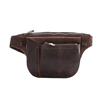 Velez Mens Genuine Colombian Leather Chest Bag Waist Bag FannyPack BumBag Belt Pouch | Koala de