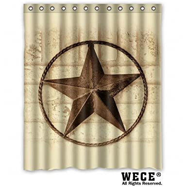Image Unavailable Not Available For Color WECE Creative Bath Western Texas Star Shower Curtains