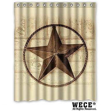 Amazon.com: Creative Bath Western Texas Star Shower Curtains (60\