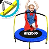 """Toddler Trampoline with Handle - 36"""" Kids Trampoline with Handle - Mini Trampoline w/ Sturdy Frame, Coil Spring, Safety Padde"""