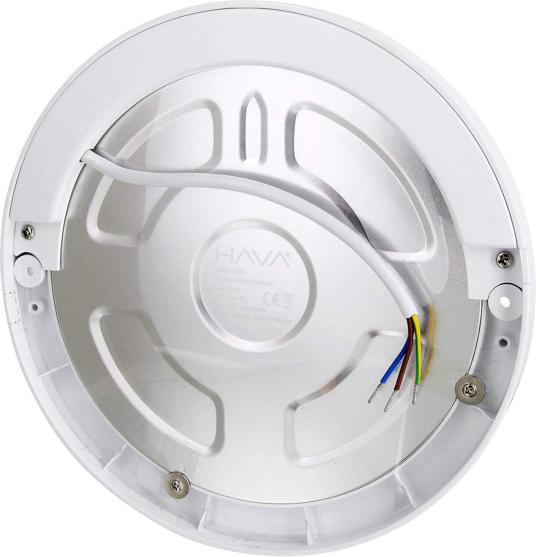 UltraSlim LED sensore 18/W pannello lampada da soffitto/ /con sensore di movimento sensore CREPUSCOLARE/ /trasformatore LED integrata LED 18.00W 230.00V Warmwei/ß 3000 K