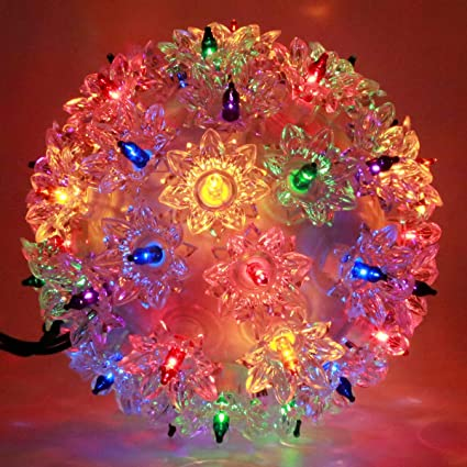 yuletime commercial grade starlight sphere lights ul certified hanging christmas ornament yuletide decor lights