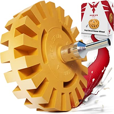 Eraser Wheel Decal Remover – Sticker and Adhesive Removal Rubber Disk with Power Drill Attachment – Remove Vinyl Decals with Ease - Proudly Made by Car Enthusiasts - Will Not Scratch Paint or Glass: Automotive