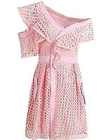 CindyCI elegante oco fora lace dress forrado assimétrico v pescoço vestidos de mulheres do partido de