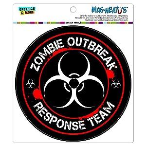 Zombie Outbreak Response Team Biohazard Red MAG-NEATO'S(TM) Automotive Car Refrigerator Locker Vinyl Magnet