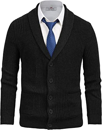 Generic Mens Business Slim Fit Button Down V Neck Knitted Cardigan Sweaters