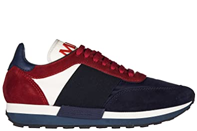 6d7f996ab Moncler Men s Shoes Suede Trainers Sneakers Horace blu UK Size 10 ...
