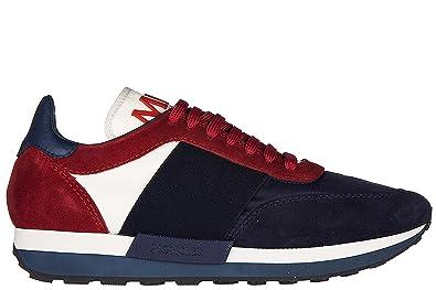 61526ec12 Moncler Men s Shoes Suede Trainers Sneakers Horace blu UK Size 10 ...