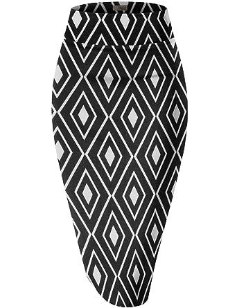 579e1dc0d2 HyBrid & Company Womens Pencil Skirt for Office Wear KSK43584 10672 Black S