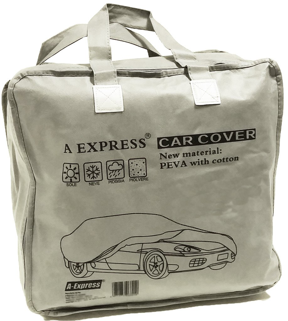 Car Accessories A-Express® Medium M Full Car Cover 100% Waterproof Indoor Outdoor Snow Rain Protection Car Covers