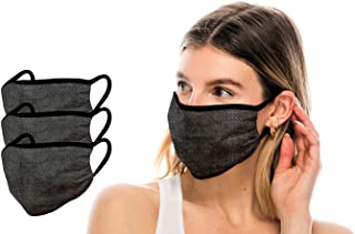 product image for Kurve 3 Pieces Fashion Face Protection, Unisex Polyester Spandex Mouth Protection, Washable, Breathable, Reusable, Made in U.S.A.