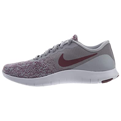 91a03f04f51de Nike Womens Flex Contact Wolf Grey/Bordeaux-White Running Shoe 6 Women US