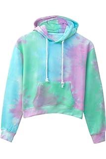Kara Hub Tie Dye Hoodie Pastel Tie-Dye Hoodies Long Sleeve Pullover Hooded Sweatshirt