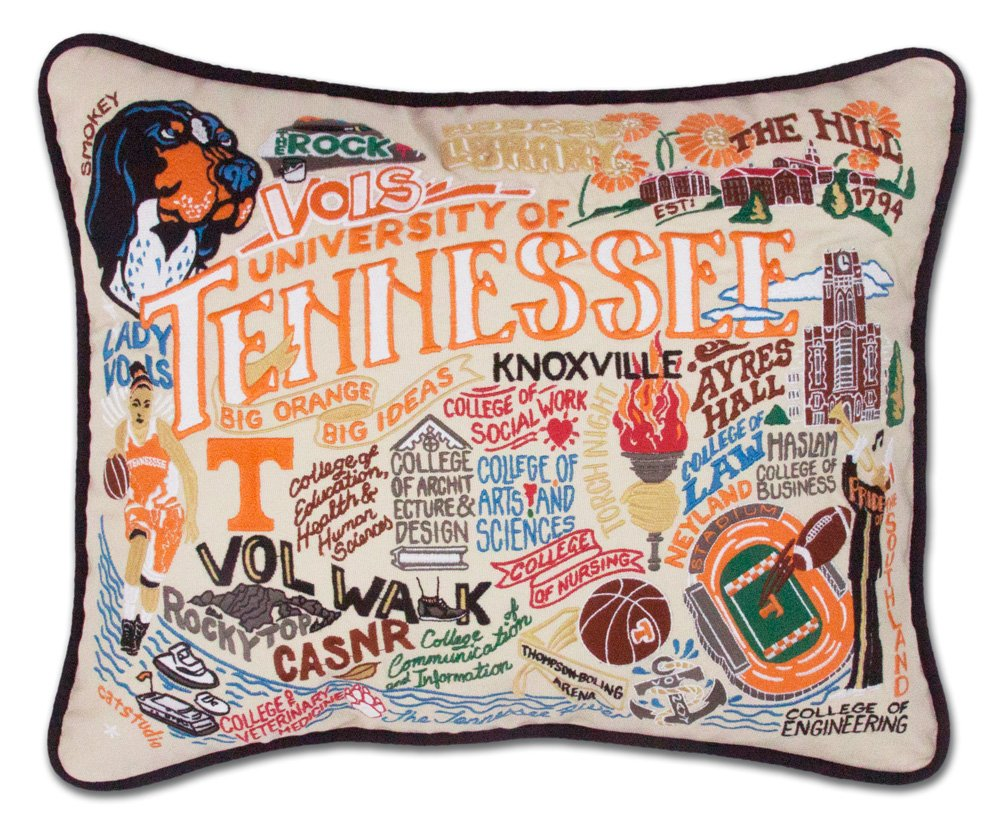 TENNESSEE, UNIVERSITY OF COLLEGIATE EMBROIDERED PILLOW - CATSTUDIO by Catstudio