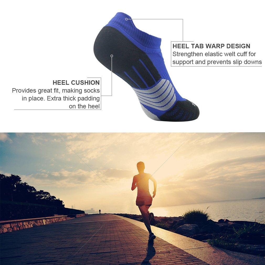 NIcool Women's Antiskid Wicking Soft Cushion Roll Top Outdoor Sports Hiking Trekking Running Short Quarter Socks 6 Pairs by NIcool (Image #5)