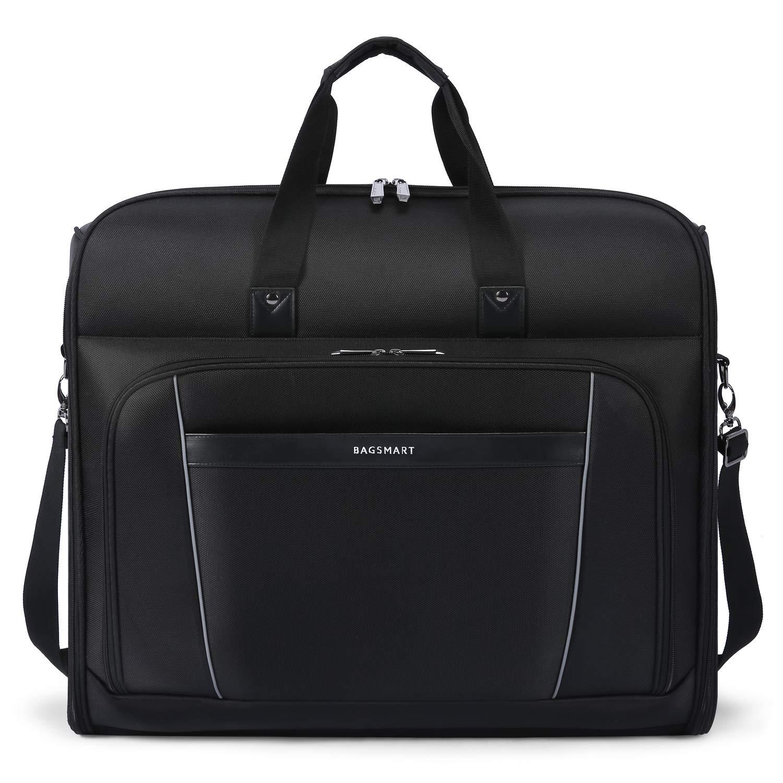 BAGSMART Carry On Garment Bag with Shoulder Strap for Suits and Dresses, Black BM0200101A001-FUS