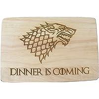 Planche à découper Game of Thrones en bois gravé au laser, idée cadeau
