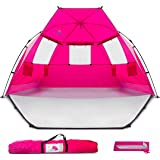 """Beach Tent Shelter Shade Cabana - Extra Large Sun Shade Portable Changing Outdoor Tent Deluxe - Quick Giant Pop Up Shade for Adults Kids Toddler Baby - Cabana Beach with Extended Ground Floor - 96""""x53""""x53"""""""