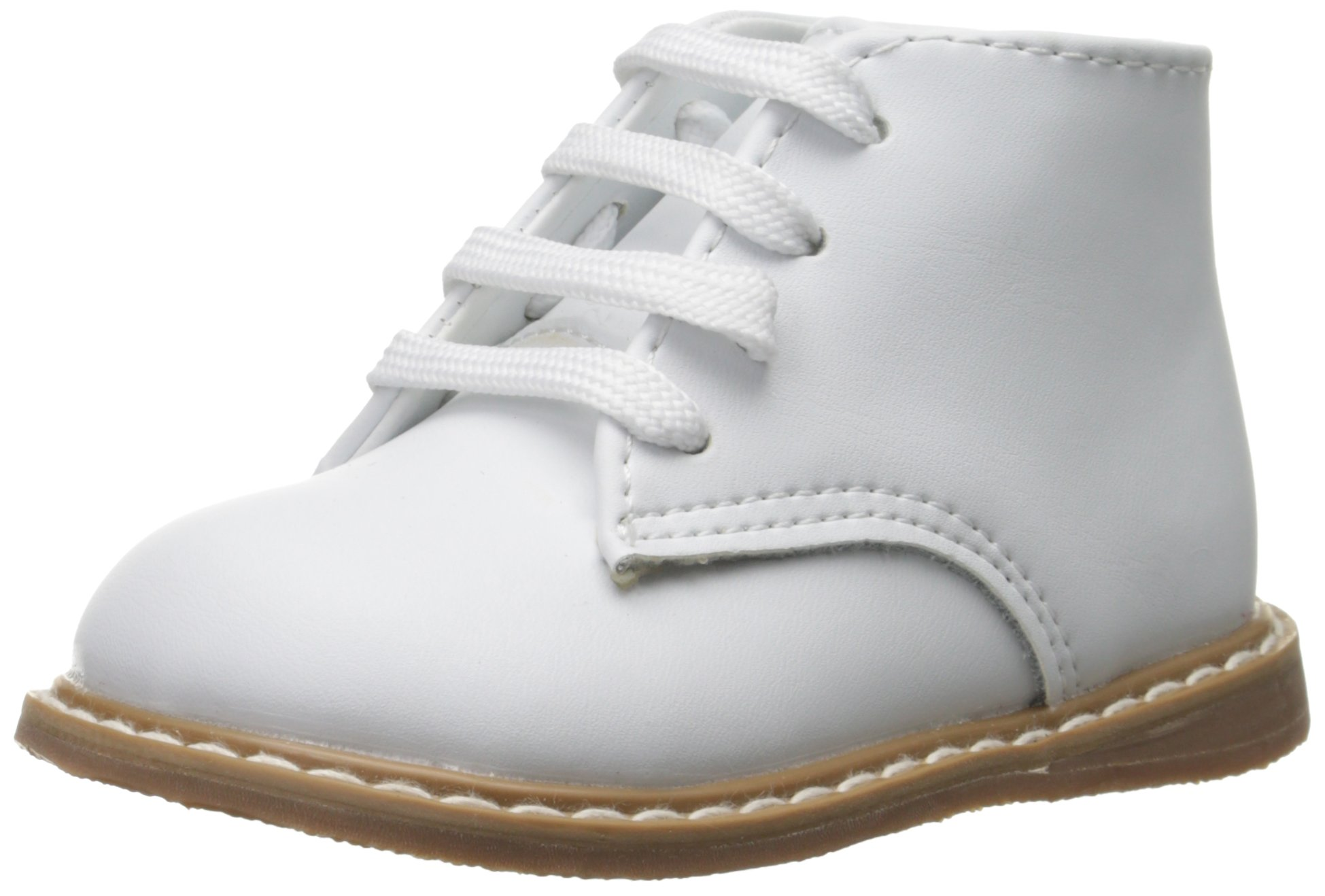 Baby Deer High Top Leather First Walker (Infant/Toddler),White,3 M US Infant