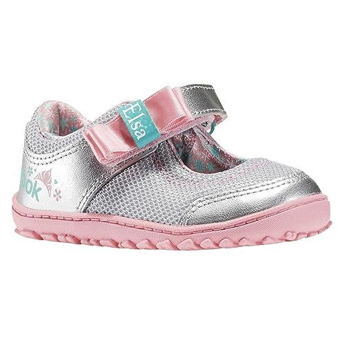 Reebok Elsa Ventureflex MJ, Zapatos de Primeros Pasos Unisex Bebé, Plateado/Rosa/Azul (Slvr Metallc/Pixie Pink/Aqua Faze/Crysta), 21 EU