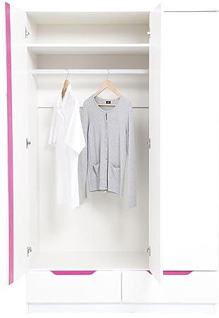 New Otto 3 Türen 2 Schubladen Triple Kleiderschrank Mit Weiß