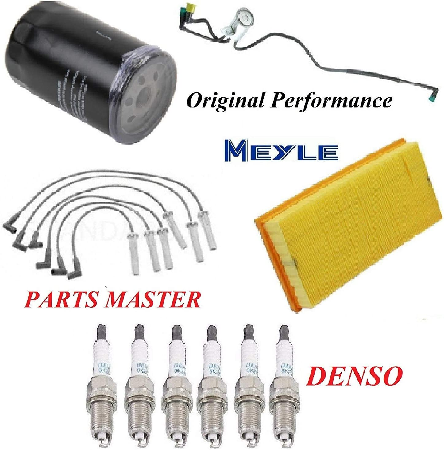 Tune Up Kit Air Oil Fuel Filters Wire Spark Plug FIT PLYMOUTH VOYAGER V6; 3.3L; w//Extended Wheelbase 1996-2000
