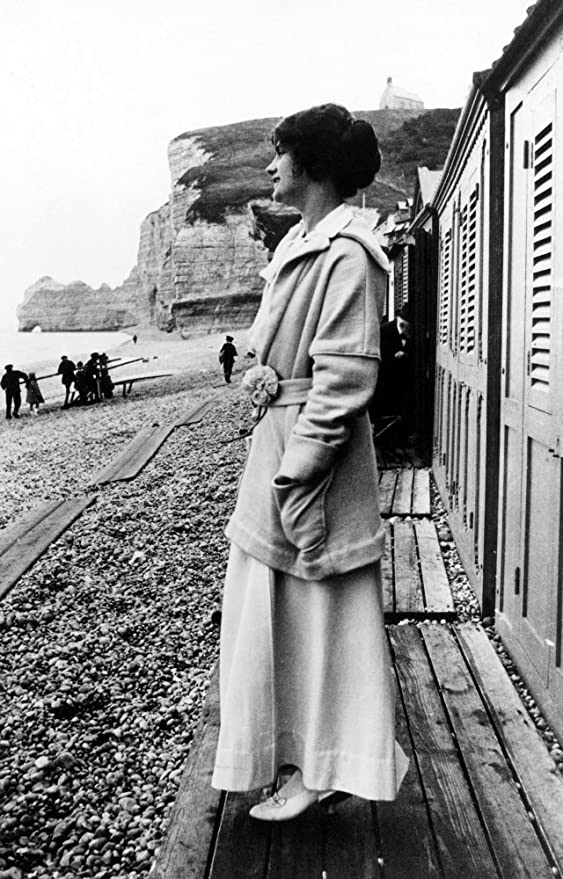 Amazon Com Gabrielle Coco Chanel N 1883 1971 French Fashion Designer Photographed On The Beach In Etretat Normandy Early 20th Century In The Background Is The Cliff Falaise Damont Poster Print By 24 X 36