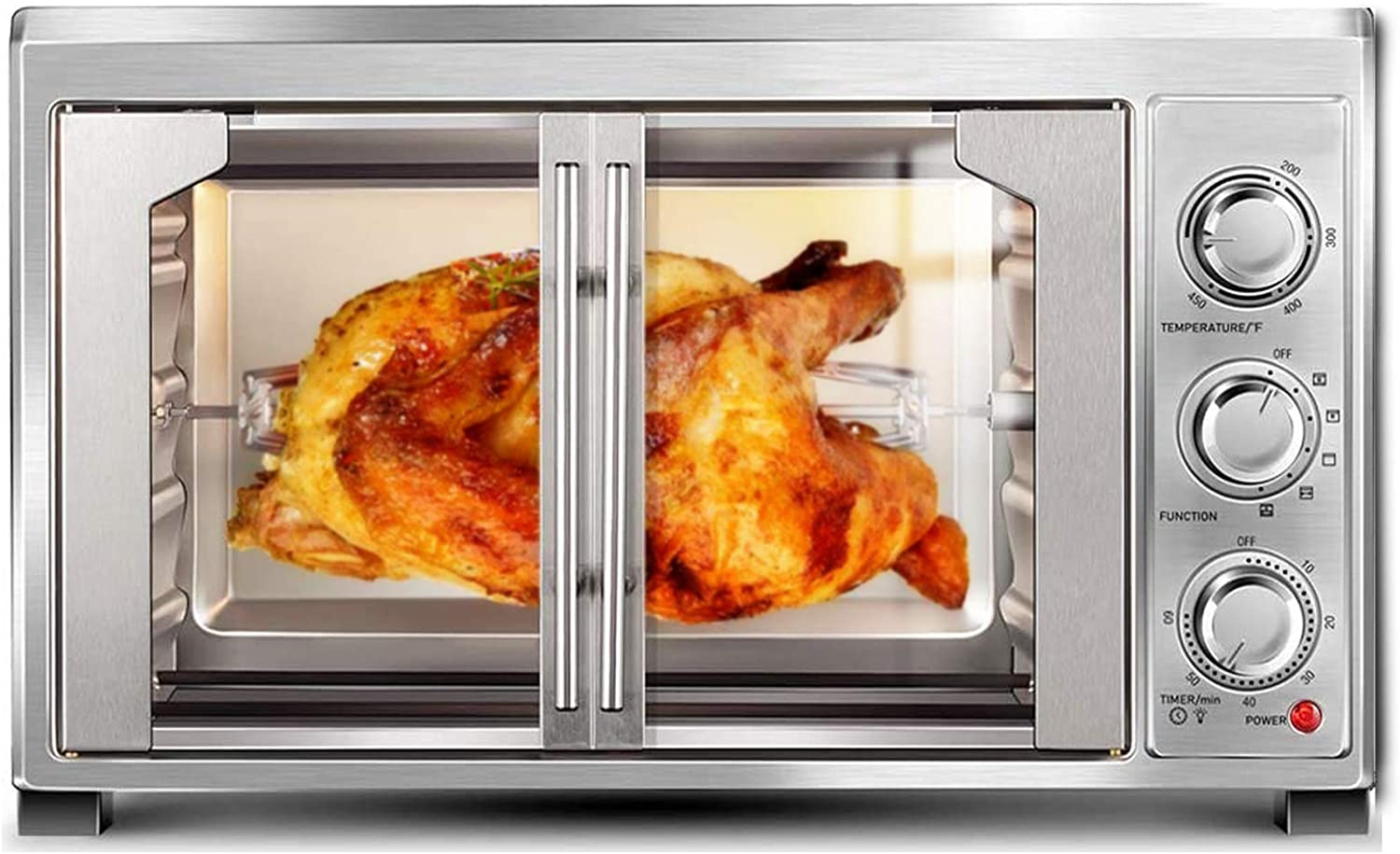 VCF 47-QT/45L Countertop Convection Toaster Oven with French Single Door, Extra Large (1500W)