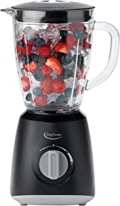 Betty Crocker Countertop Blending System 2 Speeds & Pulse, Easy Ice Crushing for Shakes & Smoothies, Dishwasher-Safe 48-Oz Pitcher, Black