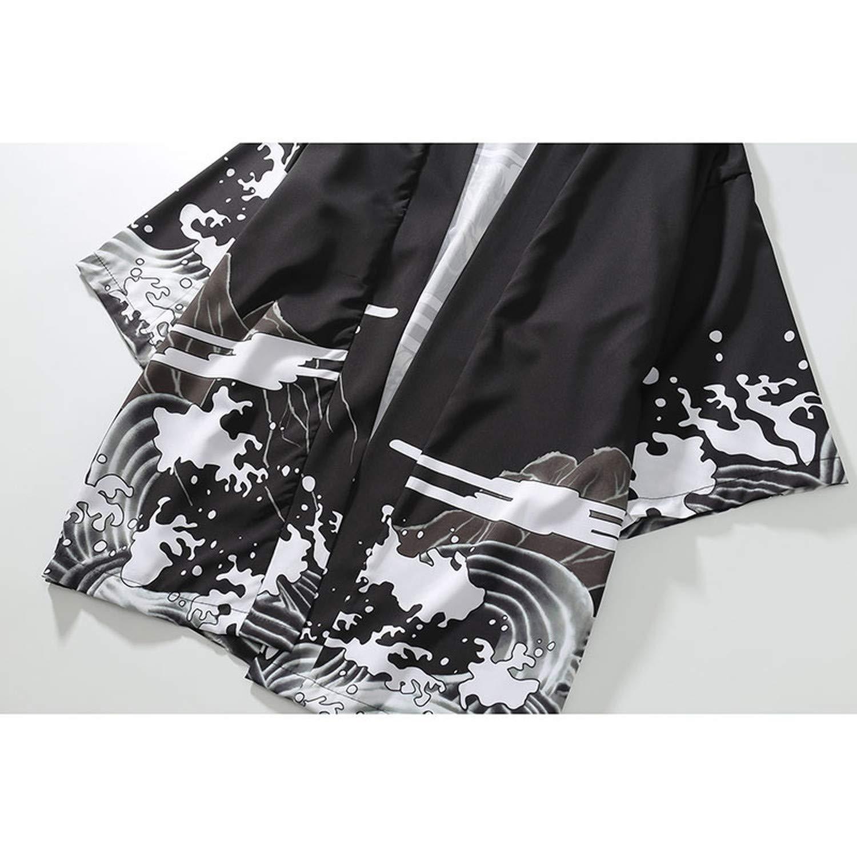 cDUILASufvop Japanese Style Kimono Men Women Cardigan Chinese Dragon Traditional Japanese Clothing Asian Clothes