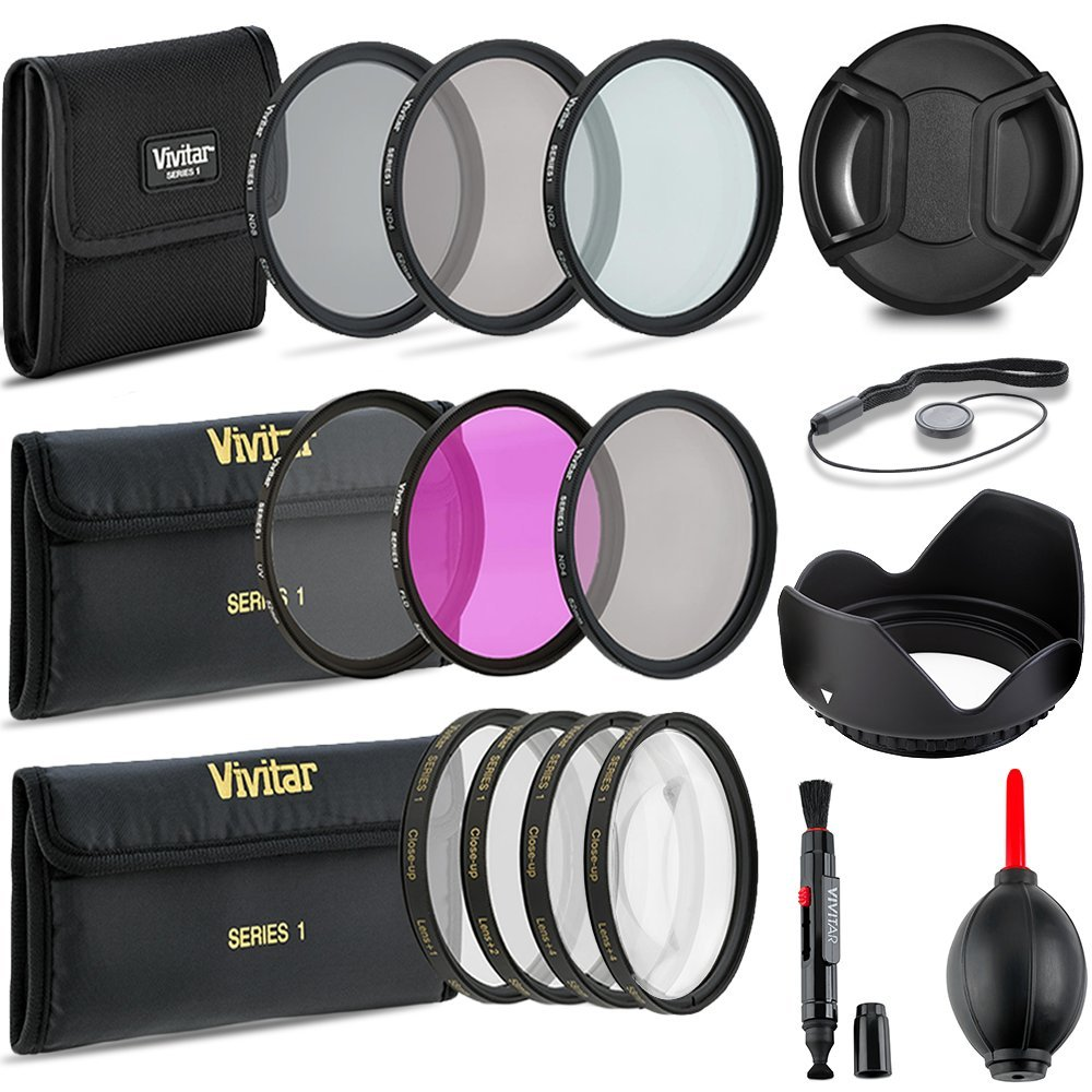 Professional 55MM UV CPL FLD Filters + Neutral Density Set + Close-Up Macro Set, 10 Piece Compact Photography Accessories for Nikon by Deals Number One